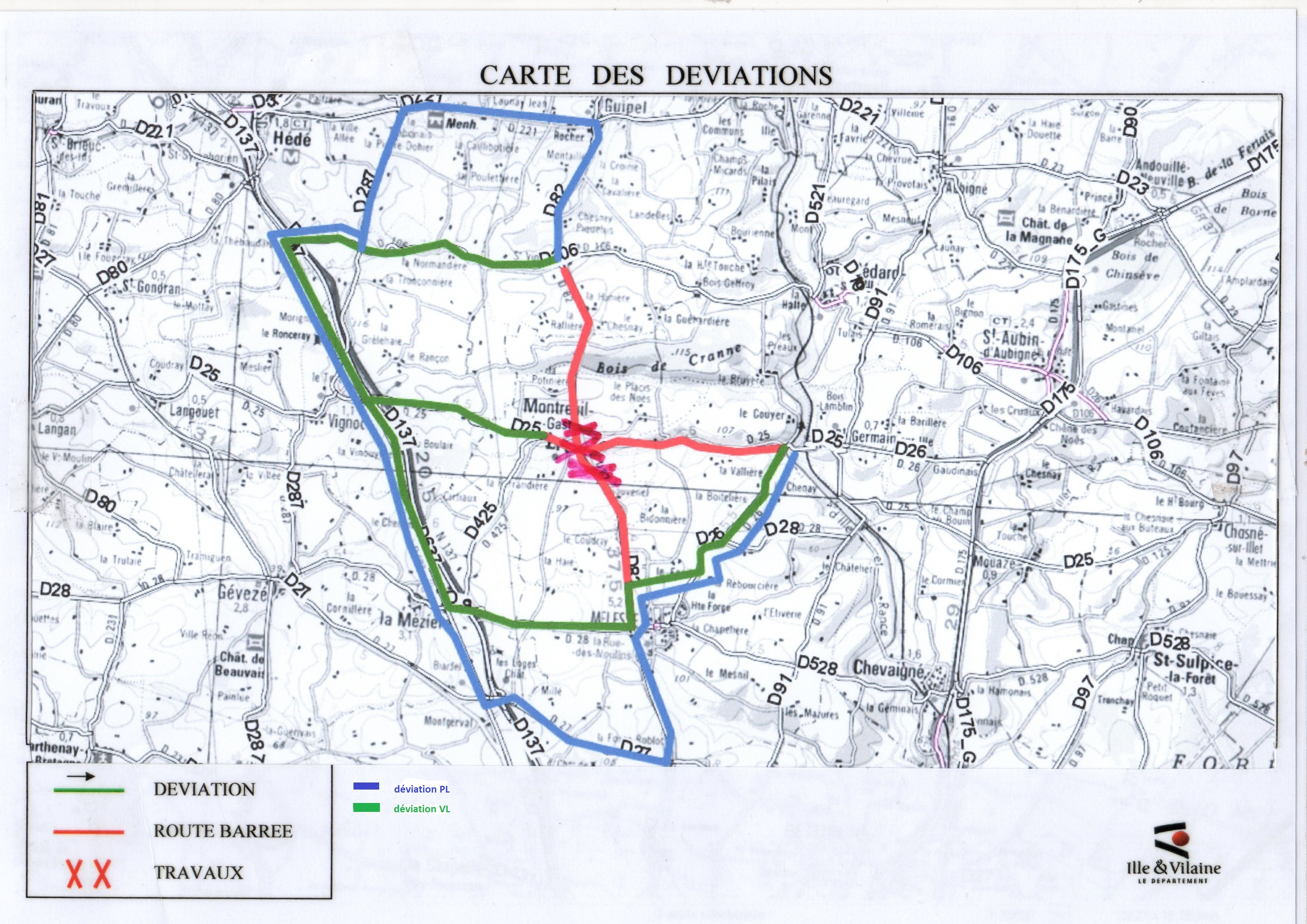 carte dviation rd 82- 25