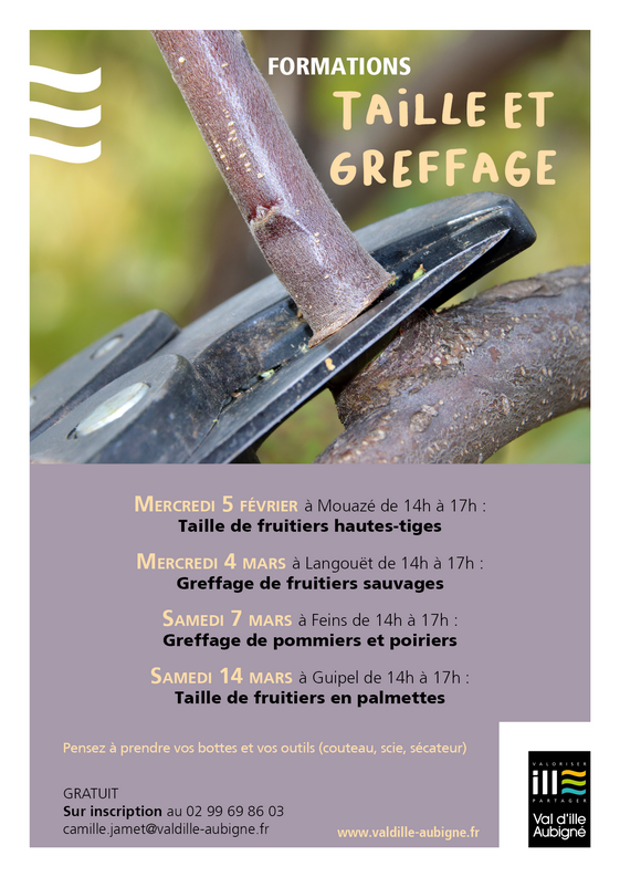 affiche formation verger